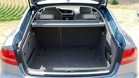 Ganz schön viel Platz: 480 Liter Ladevolumen bietet der Sportback, bei umgelegter Rückbank sind es 980 Liter.