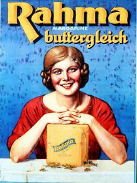 """Als """"buttergleich"""" wurde der Brotaufstrich Rahma 1927 beworben."""