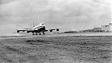 Am 9. Februar 1969 war es soweit: Auf dem US-Militärflughafen Paine bei Everett (Washington) hob die erste Boeing 747 ab.