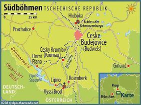 Der Bayerische Wald und Oberösterreich sind nicht weit: Die Region um den Lipno-Stausee liegt im äußersten Süden Tschechiens.