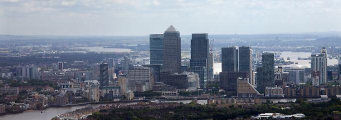 Canary Warf: Der Finanzdistrikt von London. Wer hier was werden will, muss ranklotzen.