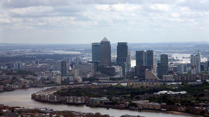Canary Warf: Der Finanzdistrikt von London.