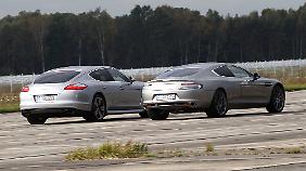Dem Porsche Panamera fehlt vor allem am Hinterteil das Filigrane eines Aston Martin.