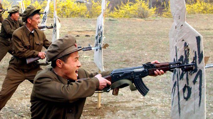 Nordkoreas Armee ist seit 60 Jahren bereit für einen Schlag gegen den Süden.