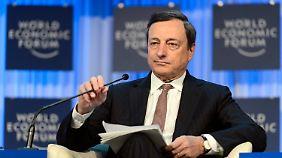Lichtblick in Davos: Draghi erwartet Ende der Krise