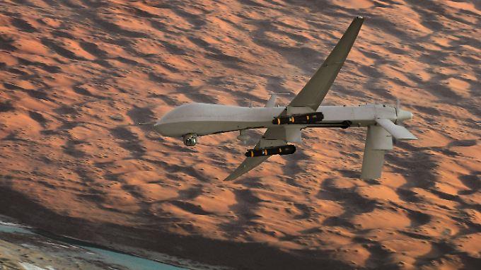 Bewaffnete Drohnen könnten zukünftig auch im Auftrag der Bundeswehr Kampfeinsätze gegen Bodenziele fliegen.