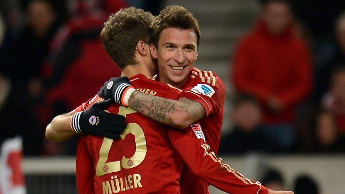 Erst traf Mario Mandzukic zum 1:0, dann legte er Thomas Müller das 2:0 auf.