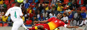 Ghana's Asamoah Gyan traf gegen den Niger.