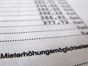 Neue gesetzliche Grenze: Mieten dürfen bei bestehenden Mietverhältnissen künftig um maximal 15 Prozent steigen.
