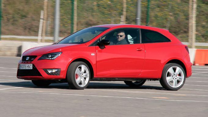 Mit dem VW Polo GTI teilt sich dieser Seat Ibiza Cupra den Anstriebsstrang.