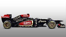 """Wegen des zusätzlichen Gewichts und der Aerodynamik  verzichtet Lotus vorerst darauf, die von der FIA erlaubte Kosmetik-Blende einzusetzen und bleibt bei der in der vergangenen Saison so häufig belächelten """"Knicknase""""."""