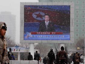 Auch das nordkoreanische Fernsehen bestätigte den Atomtest.