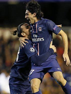 Javier Pastore erzielte in der 43. Minute das zweite Tor für Paris.