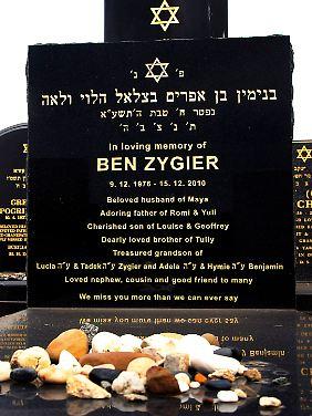 Der Grabstein von Ben Zygier im australischen Melbourne.
