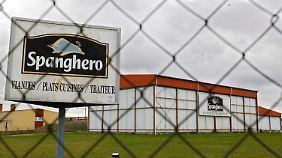 Das Fabrikgelände des französischen Großhändlers Spanghero  in Castelnaudary in Südfrankreich.