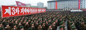 Tausende auf zentralem Platz: Pjöngjang lässt Atomtest bejubeln