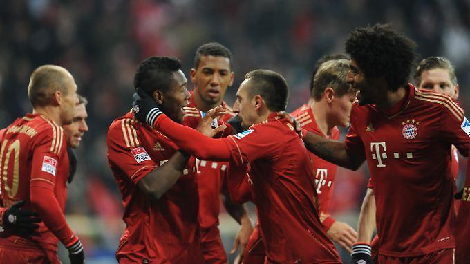 Münchner Jubel: Die Schalker hatten zuletzt überhaupt keine Chance.