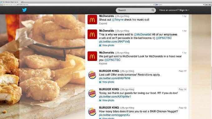 """Wir wurden gerade an McDonald's verkauft"", war der erste Tweet nach dem Burger-Hack."