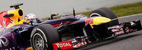 Alonso und Vettel auf Augenhöhe: Rosberg rast im Silberpfeil davon