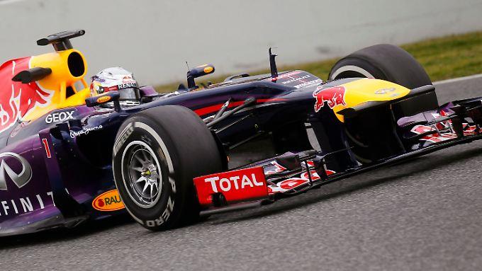 Schnell, aber nicht der Schnellste: Weltmeister Sebastian Vettel in seinem neuen Red Bull.