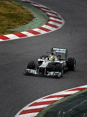 Nico Rosberg trumpfte am Nachmittag noch einmal auf.