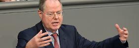 """EU-Haushalt: Steinbrück warnt vor """"Kaputtsparen"""""""