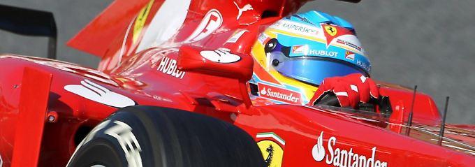 Fix im Ferrari: Fernado Alonso.