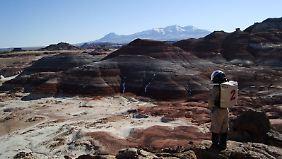 "Wie auf dem Mars: ""Weltraumspaziergänge"" in die Umgebung."