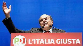 In Italien wird es eng: Bersani liegt in Umfragen vorne
