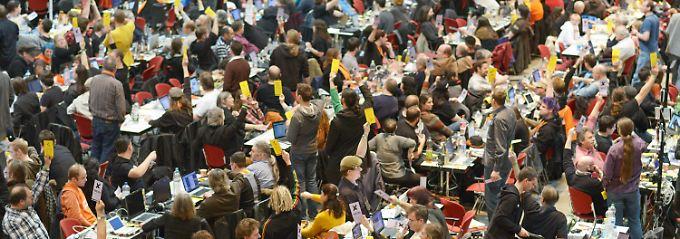 Beim Bundesparteitag Ende November in Bochum.