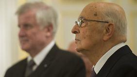 Napolitano konnte sich nicht mit Steinbrück treffen, ohne sich selbst in die Nähe seiner Äußerungen zu bringen. Auch deshalb war es nötig, den Termin abzusagen.