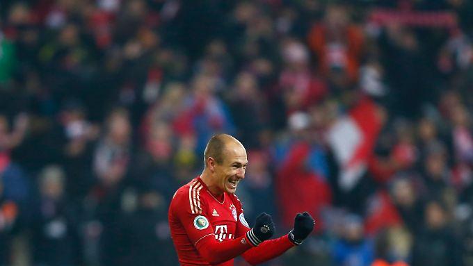 Gegen die Schmach der Vergangenheit: Mit seinem Siegtreffer verdrängte Arjen Robben sein Dortmund-Trauma.