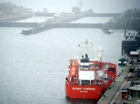 Die Schleusen am Nord-Ostsee-Kanal sind geschlossen.