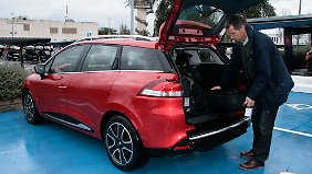 Der Clio Grandtour hat eine beladefreundliche Kofferraumkante von 56 cm Höhe.