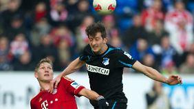 Hoffenheim kämpfte beherzt, konnte den Ball aber nicht ins Bayern-Tor kämpfen.