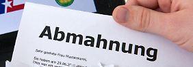 Die Grünen haben einen Gesetzentwurf gegen massenhafte Abmahnungen erarbeitet. Foto: Andrea Warnecke/Illustration