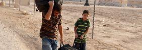 Flüchtlinge im Lager Zataari an der Grenze zu Jordanien.