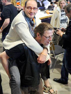 So getragen wie hier, nach seiner Wahl beim Parteitag im April 2012, wurde Ponader zuletzt kaum noch.