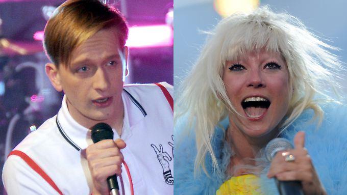 Wollen mit Frei.Wild nichts zu tun haben: Kraftklub-Sänger Felix Brummer und Mia.-Frontfrau Mieze Katz.