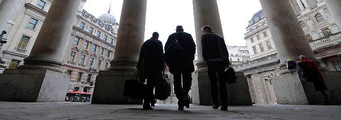 Dicht an dicht in der City: Von der Londoner Börse bis zur Notenbank ist es nur ein kleiner Schritt.