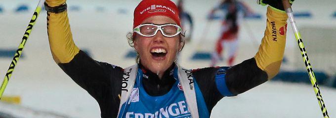 Beste Deutsche in Sibirien: Laura Dahlmeier.
