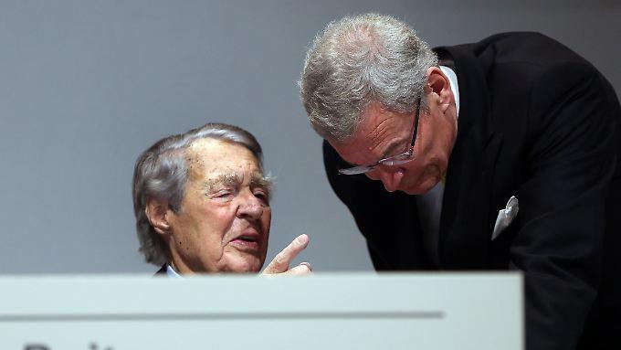 Wenige Wochen nach der Hauptversammlung bei ThyssenKrupp Mitte Januar ist die gemeinsame Zeit von Berthold Beitz und Gerhard Cromme Geschichte.