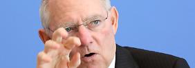 """Finanzminister Schäuble ist sich sicher: """"Wir sind dabei, Stabilität zu liefern"""""""