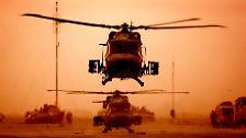 Die irakischen Streitkräfte sind der modernen Kriegsmacht USA heillos unterlegen.