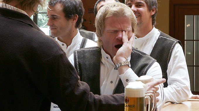 Früher war auch nicht alles besser: Oliver Kahn im Jahr 2005, damals noch Torwart des FC Bayern.