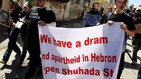 Palästinensische Demonstranten erinnern Obama an große Worte der US-Politik