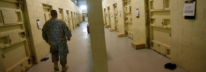 Im Innern der Haftanstalt. Die US-Armee ist mittlerweile abgezogen.