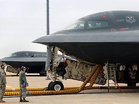 Dieser Waffe hat Nordkorea wenig entgegenzusetzen: B-2-Bomber können dank Luftbetankung binnen Stunden nahezu jeden Punkt der Erde erreichen.