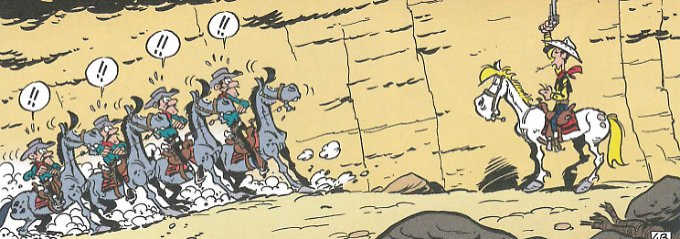 Man kennt sich: Lucky Luke ist wiedermal hinter den Daltons her.