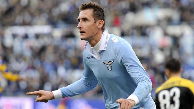 """""""Lazio hofft, dass allein seine Anwesenheit reicht, um die Mannschaft wieder nach vorn zu bringen"""": Miroslav Klose."""